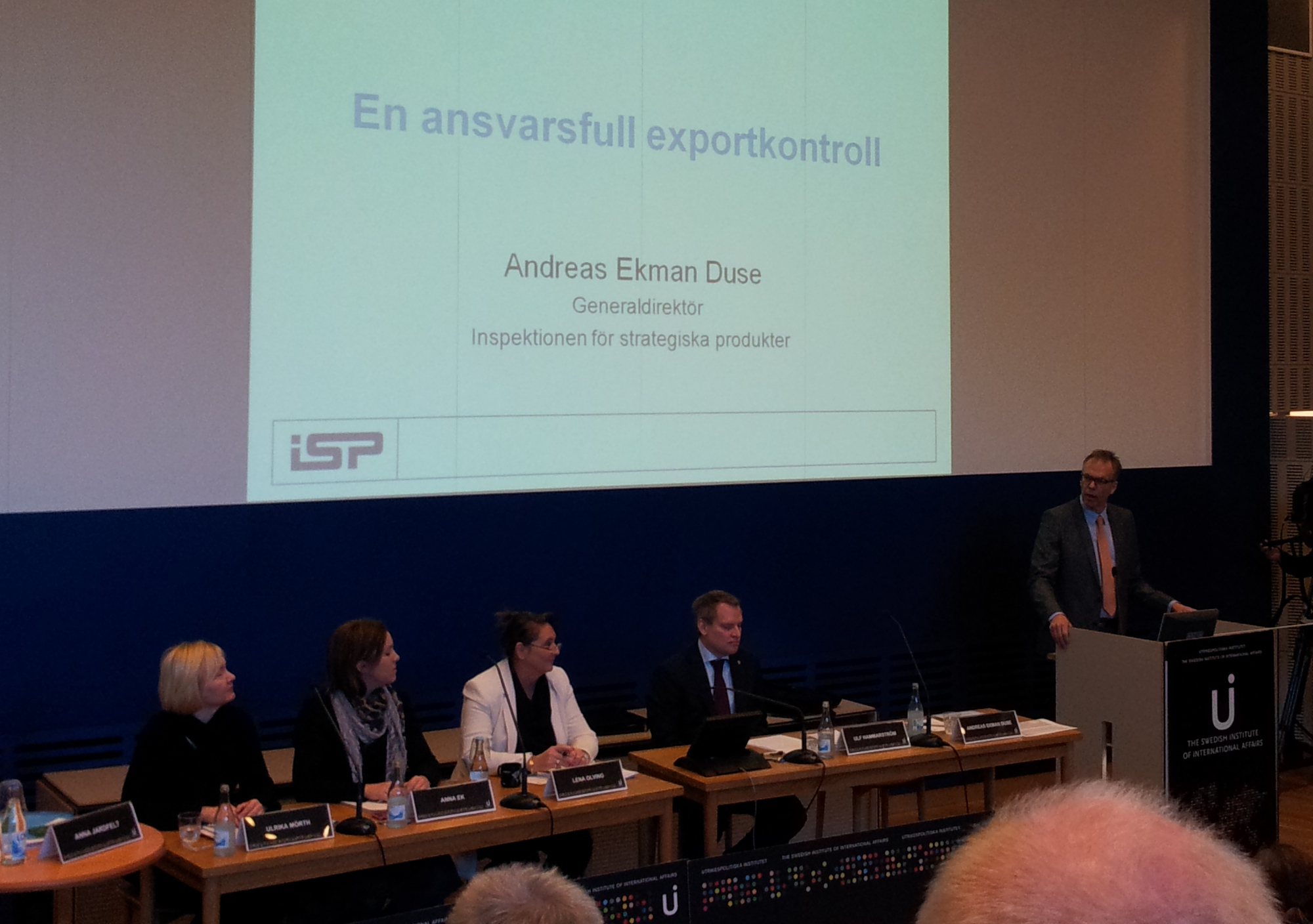 Andreas Duse Ekman 2012-02-23 på Utrikespolitiska institutet