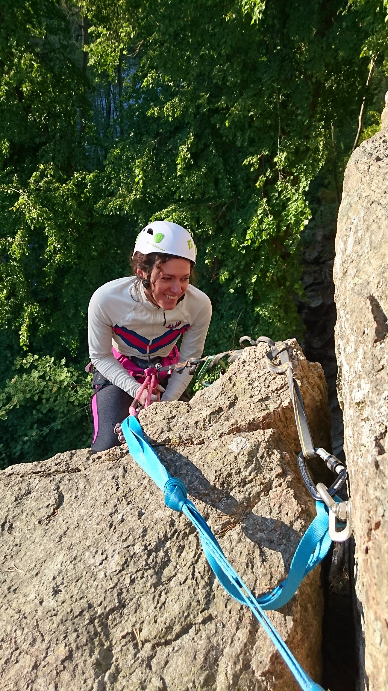 Elena Malioutina är bra på att klättra. Nacka kvarn.