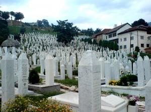 Kyrkogård i Sarajevo, Bosnien Herzegovina.