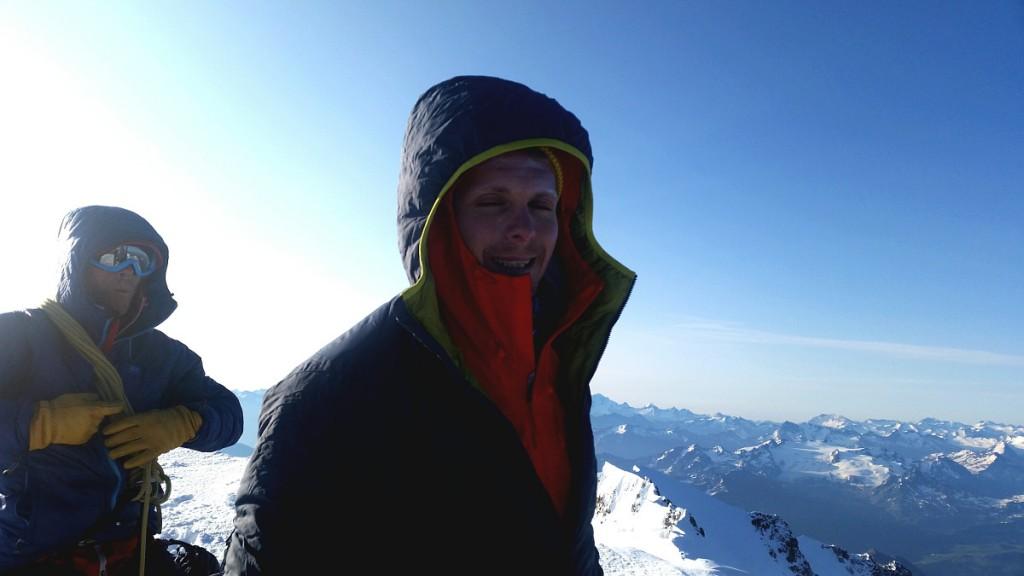 Lars på Mont Blanc.
