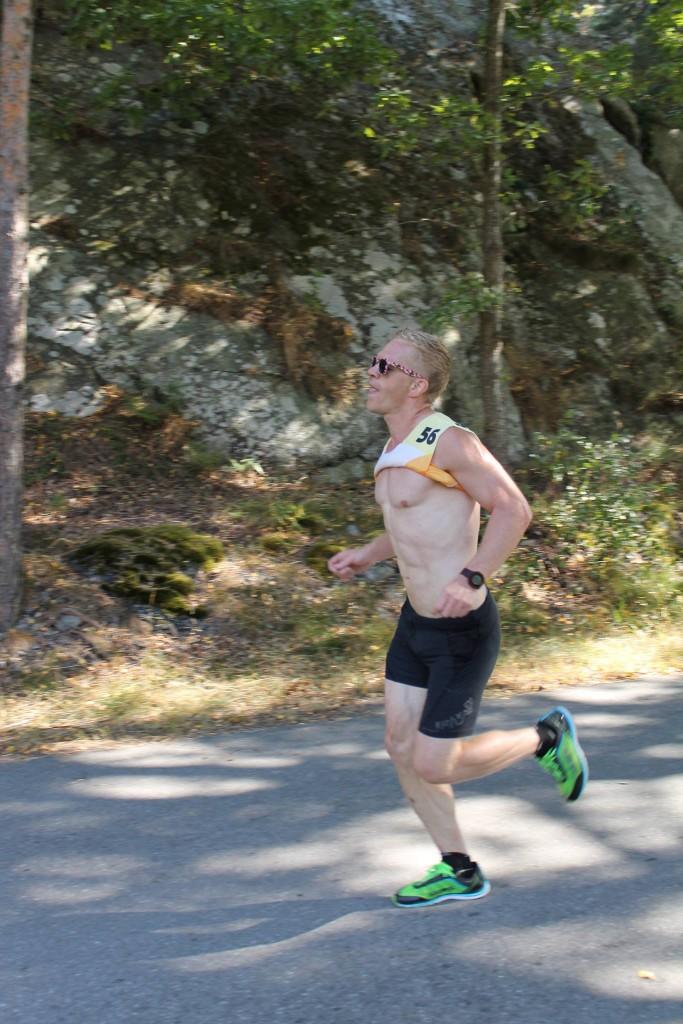 Andreas löpning på Nynäshamn triathlon.