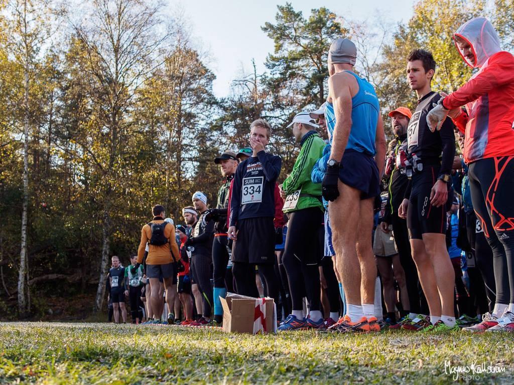 Sörmland Ultra Marathon 2015 strax innan start.