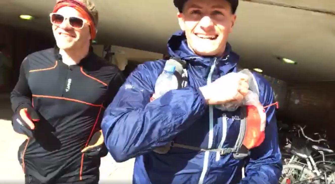 Kalle mötte upp i Huddinge efter 15,6 km och hängde på till Hammarbybacken där Lars tog över pacningen.