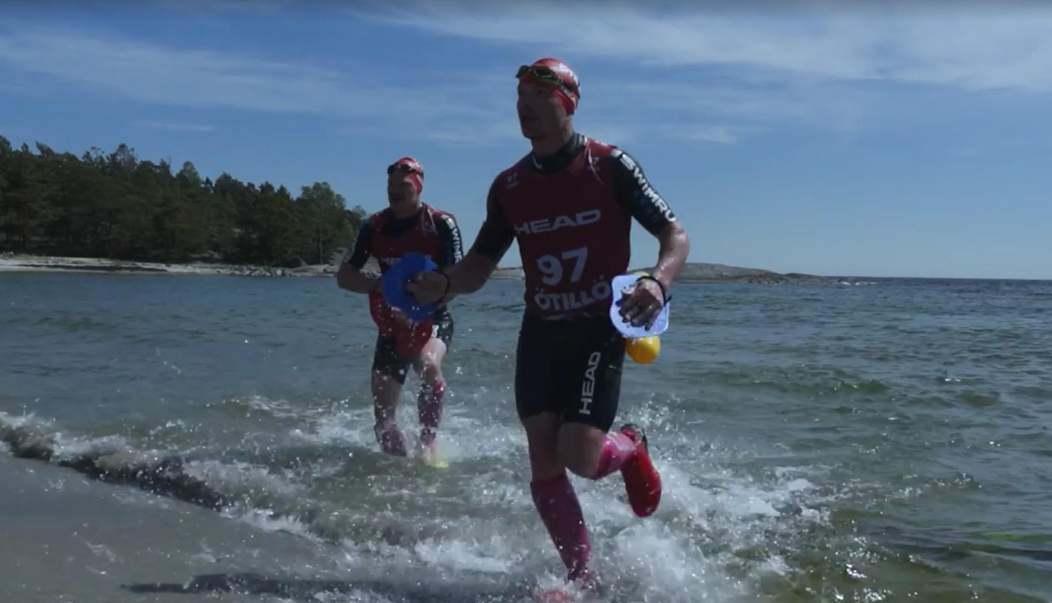 Andreas Ribbefjord och Tomas Granberg på ÖTILLÖ Swimrun Utö 2017.