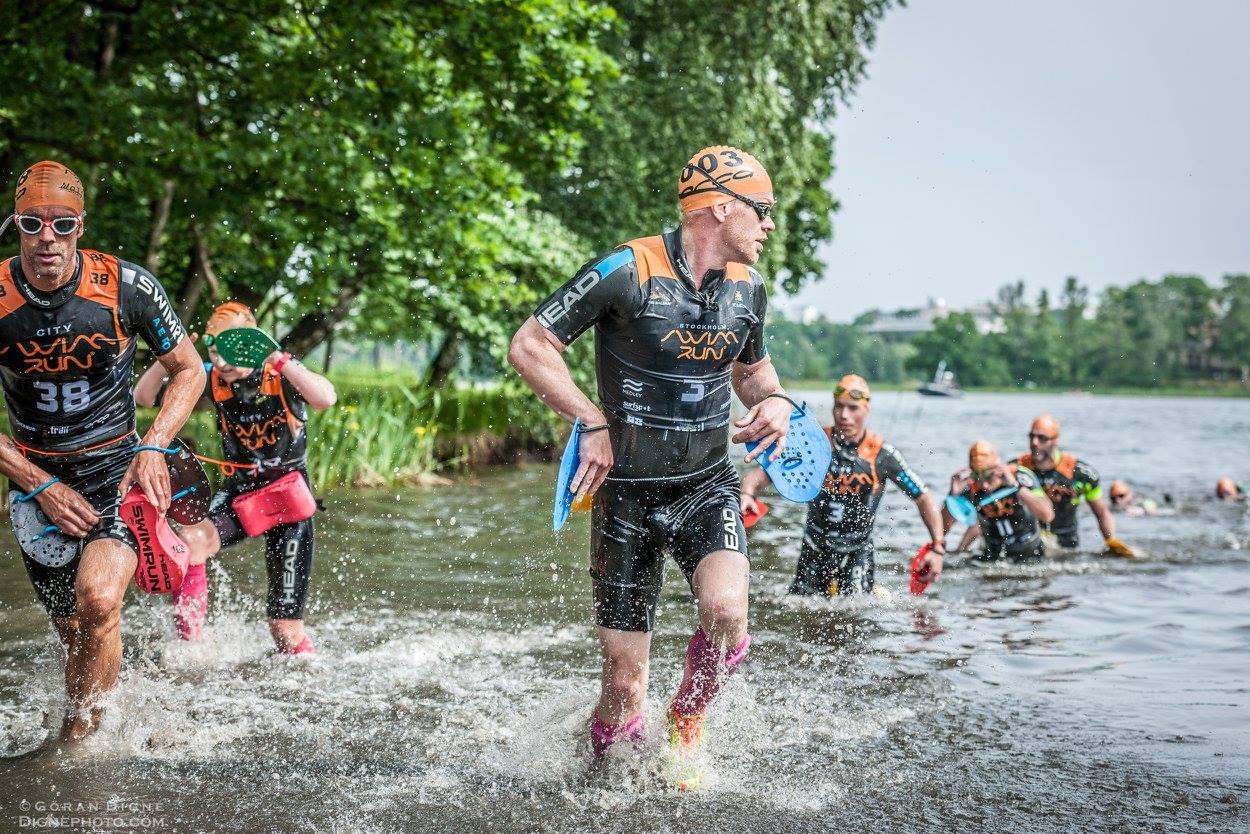 Stockholm Swimrun 2017. Andreas och Tomas Granberg.