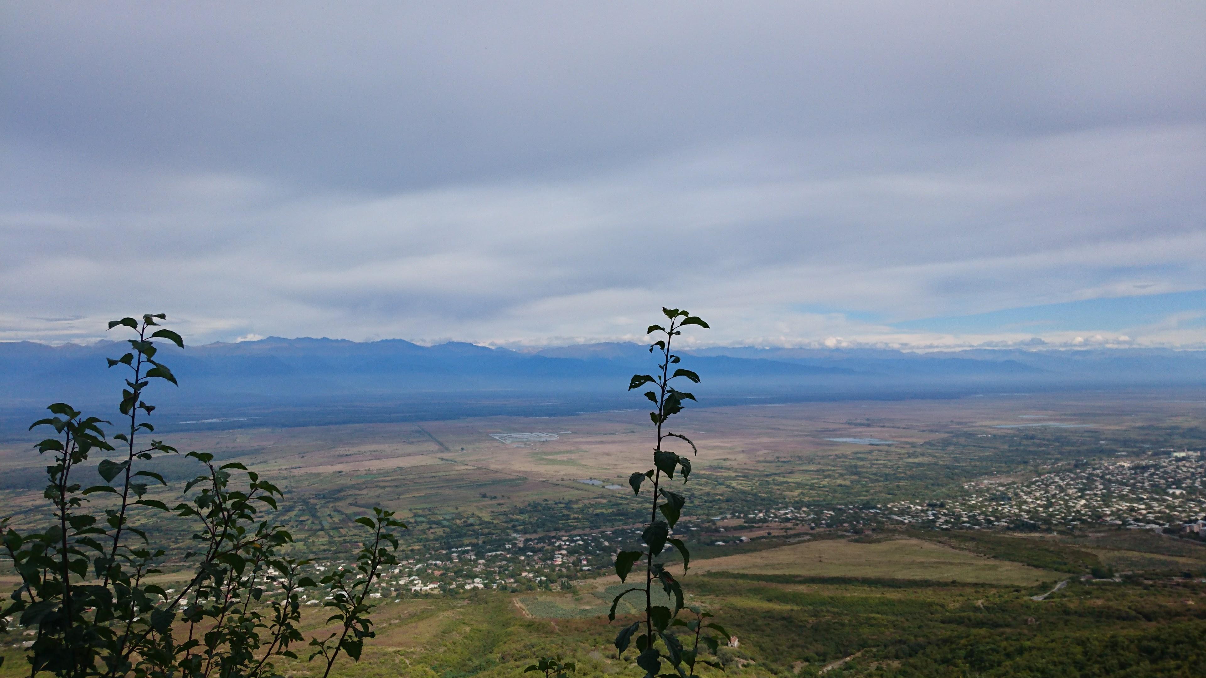 Utsikt från Sighnaghi, Georgien.