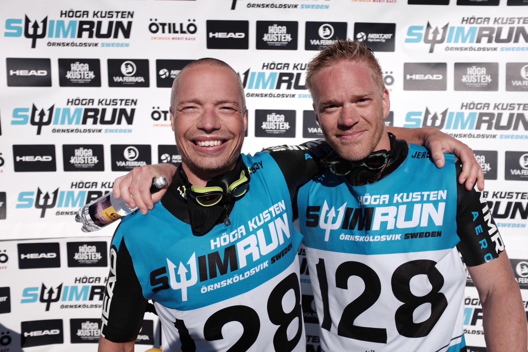 Andreas Ribbefjord och Tomas Granberg efter målgång.